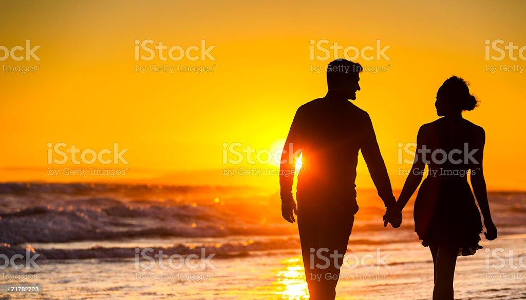 Romance on the Beach royalty-free stock photo