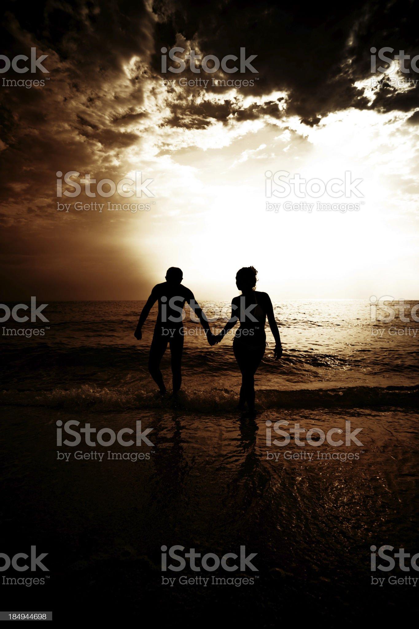 Romance on the sea royalty-free stock photo