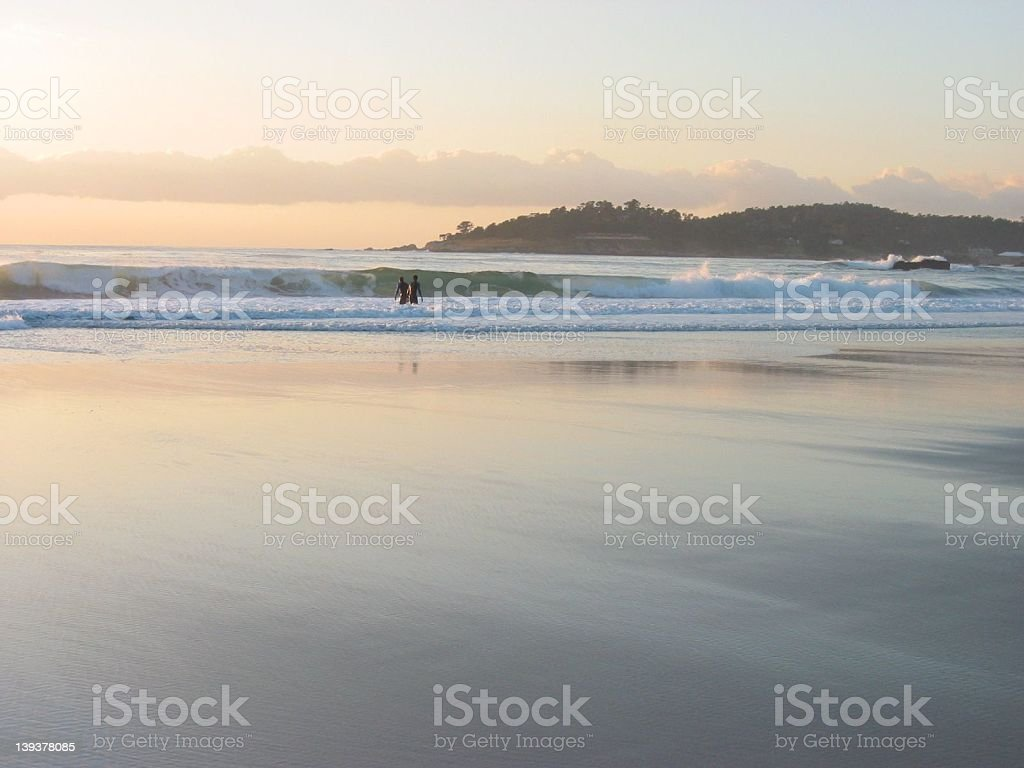 Romance on the Surf royalty-free stock photo