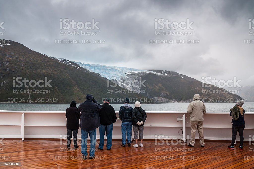 Romanche Glacier, Glacier Alley, Beagle Channel, Chile stock photo