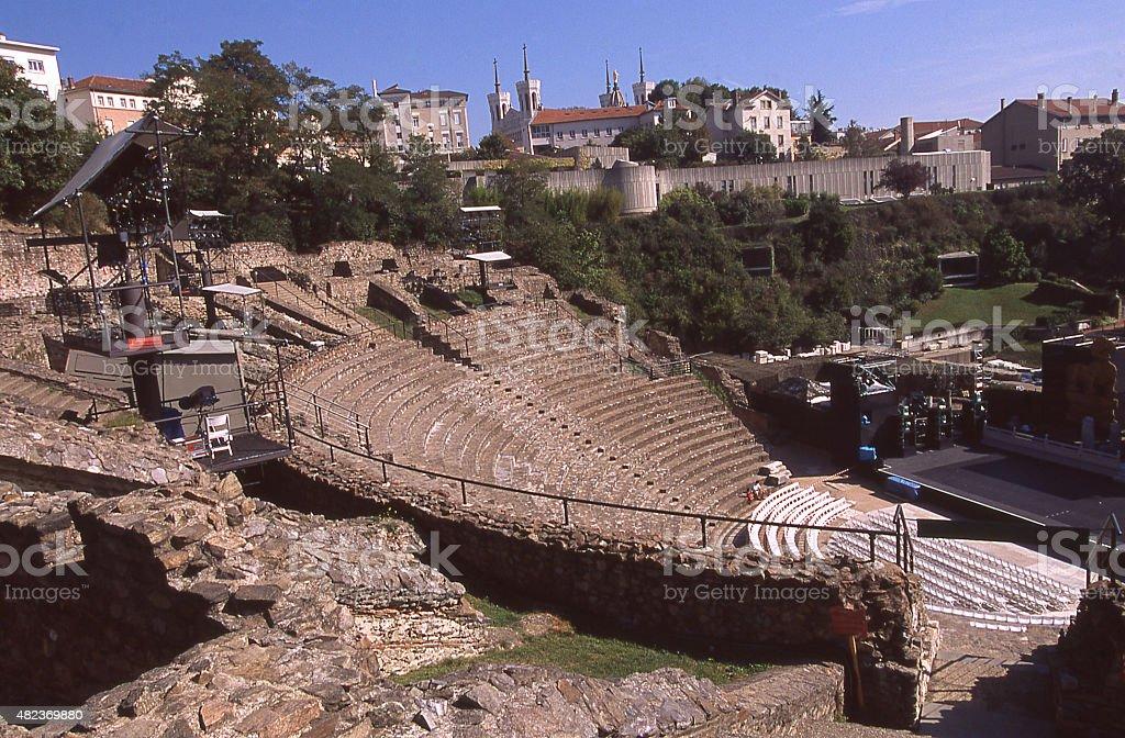 Roman-era Amphitheatre or Anfiteatro di Segesta Trapani Province Sicily Italy stock photo