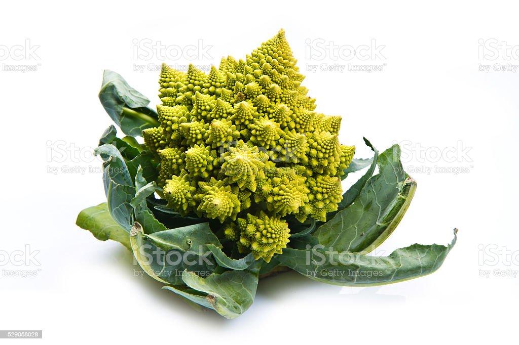 Romanesco broccoli cabbage stock photo