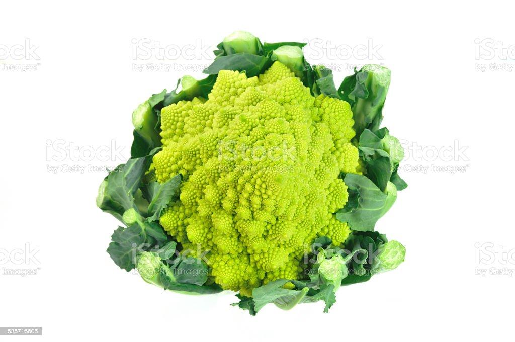 Romanesco broccoli is a type of cauliflower stock photo