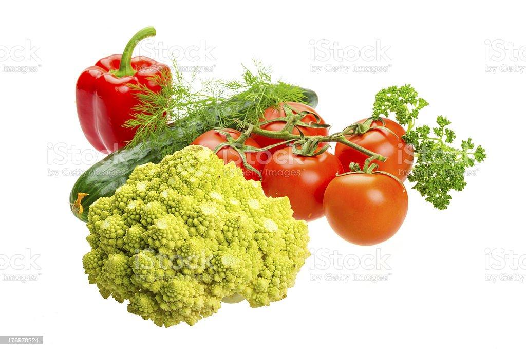 Romanesco cabbage royalty-free stock photo