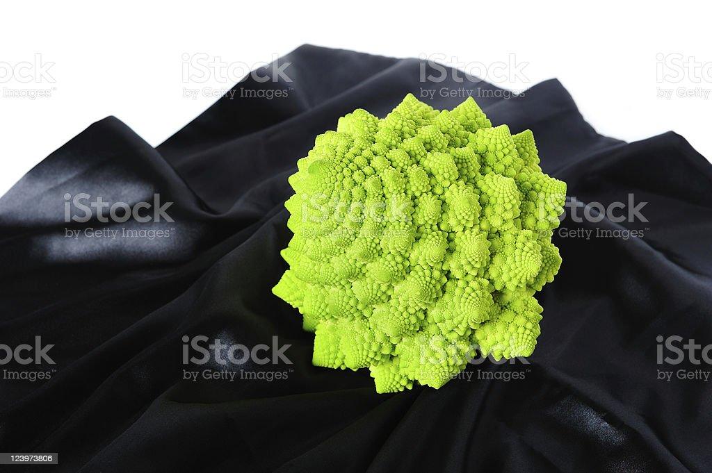 Romanesco on black silk royalty-free stock photo