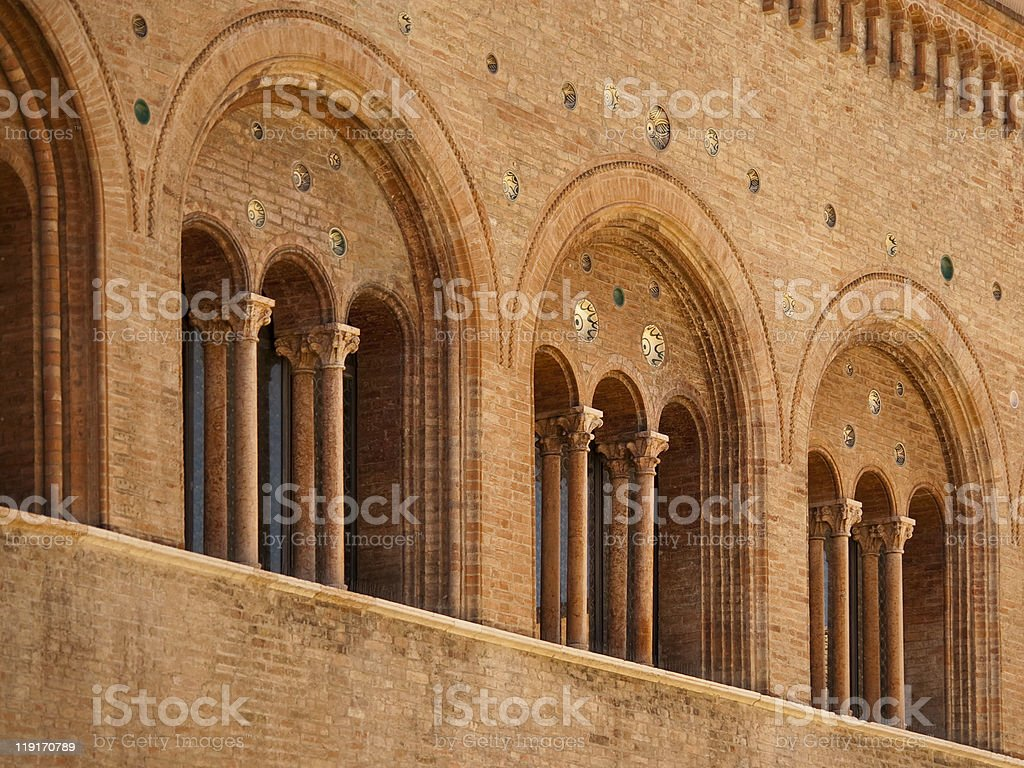 romanesque architecture in parma italy royalty-free stock photo