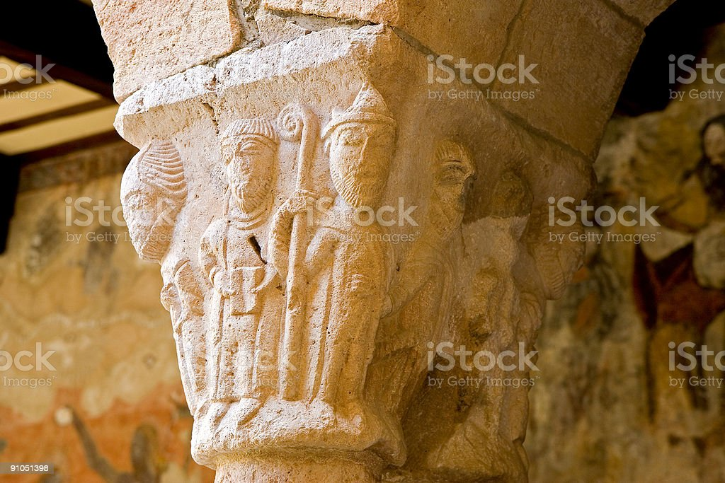 Romanesque capital royalty-free stock photo
