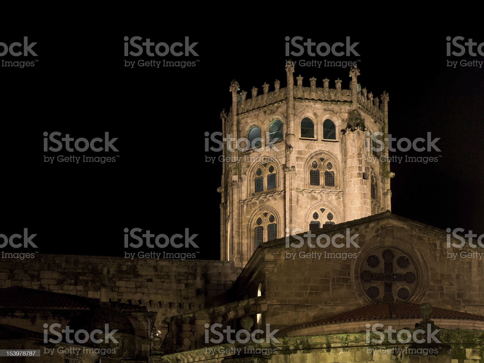 Romanesque cathedral of Ourense royalty-free stock photo