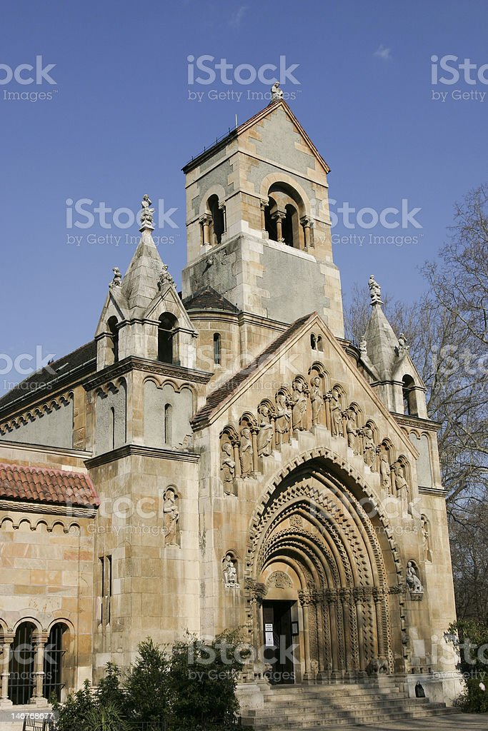 romanesque chapel royalty-free stock photo