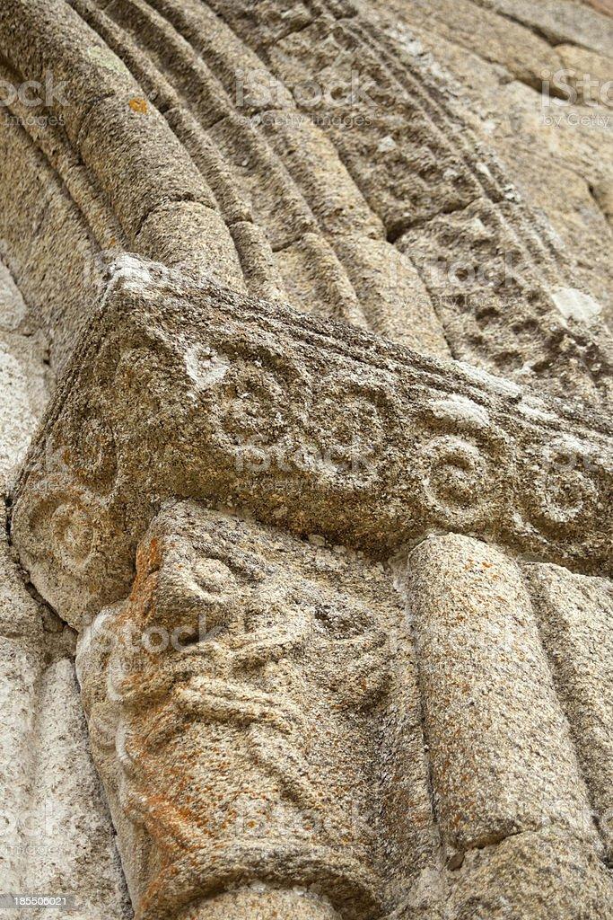 Romanesque church entrance royalty-free stock photo