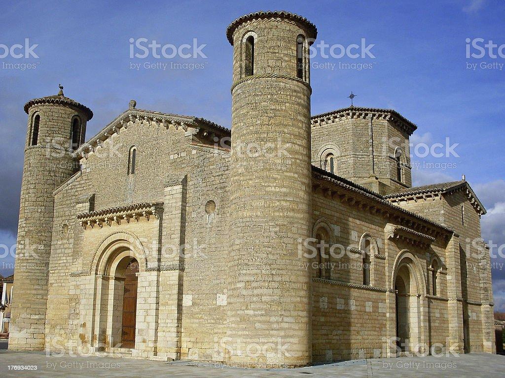 Romanesque church Fromista - iglesia romanica  España royalty-free stock photo
