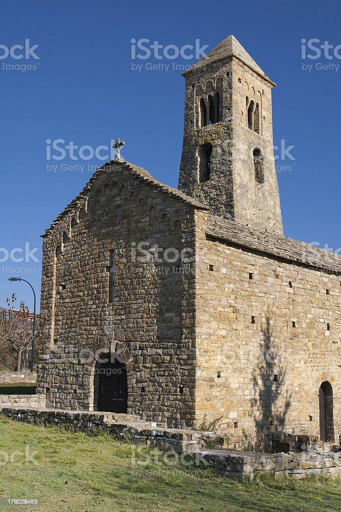 Romanesque church in Coll de Nargo stock photo