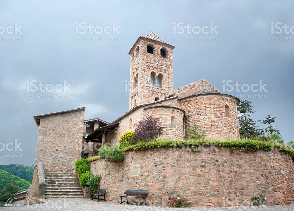Romanesque church of Espinelves.Catalonia.Spain stock photo