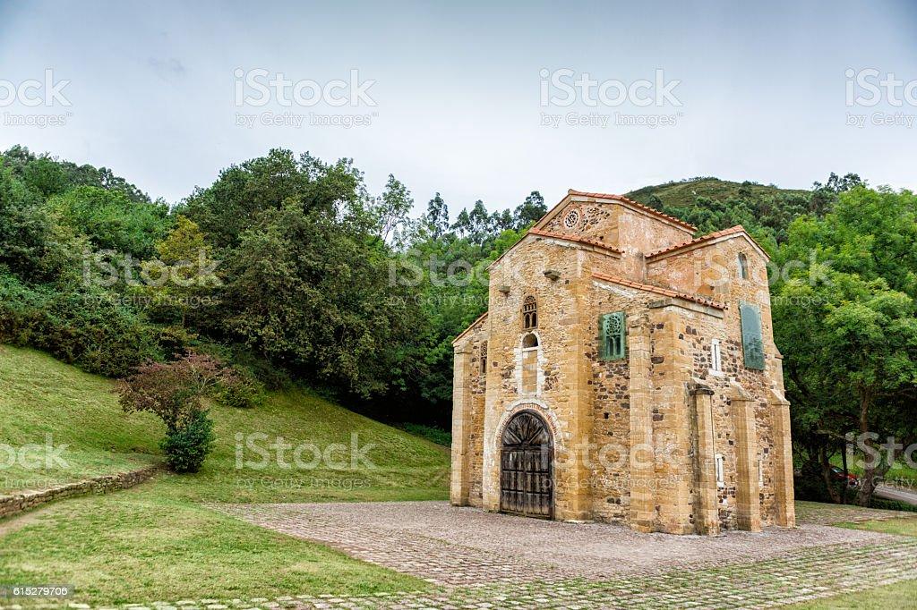 Romanesque Church of San Miguel de Lillo, Oviedo, Asturias, Spain stock photo