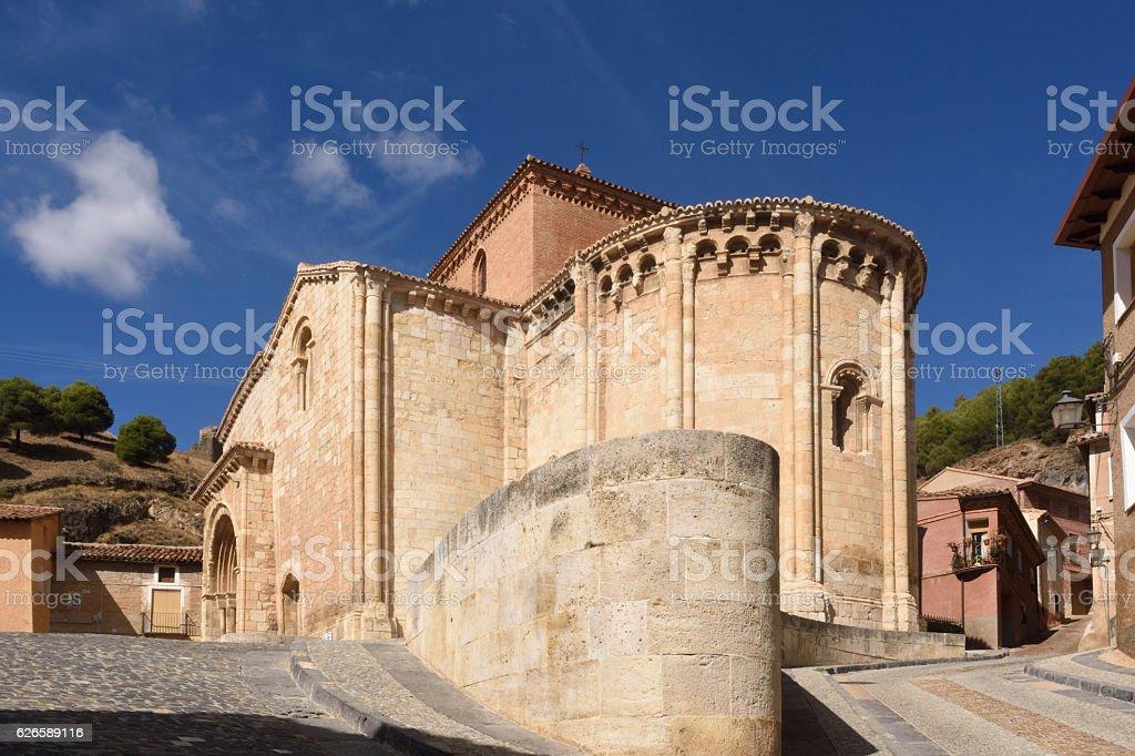 Romanesque church of San Miguel or San Valero, stock photo