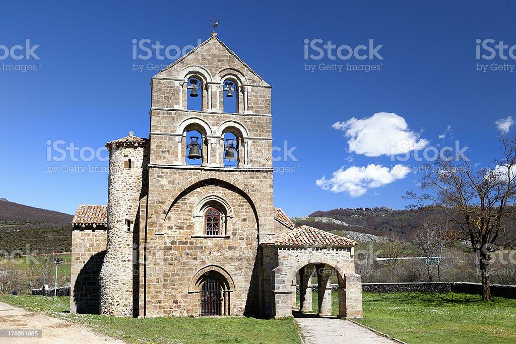Romanesque church of San Salvador (Palencia) royalty-free stock photo
