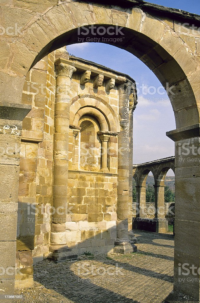 Romanesque church of Santa Maria in Spain royalty-free stock photo