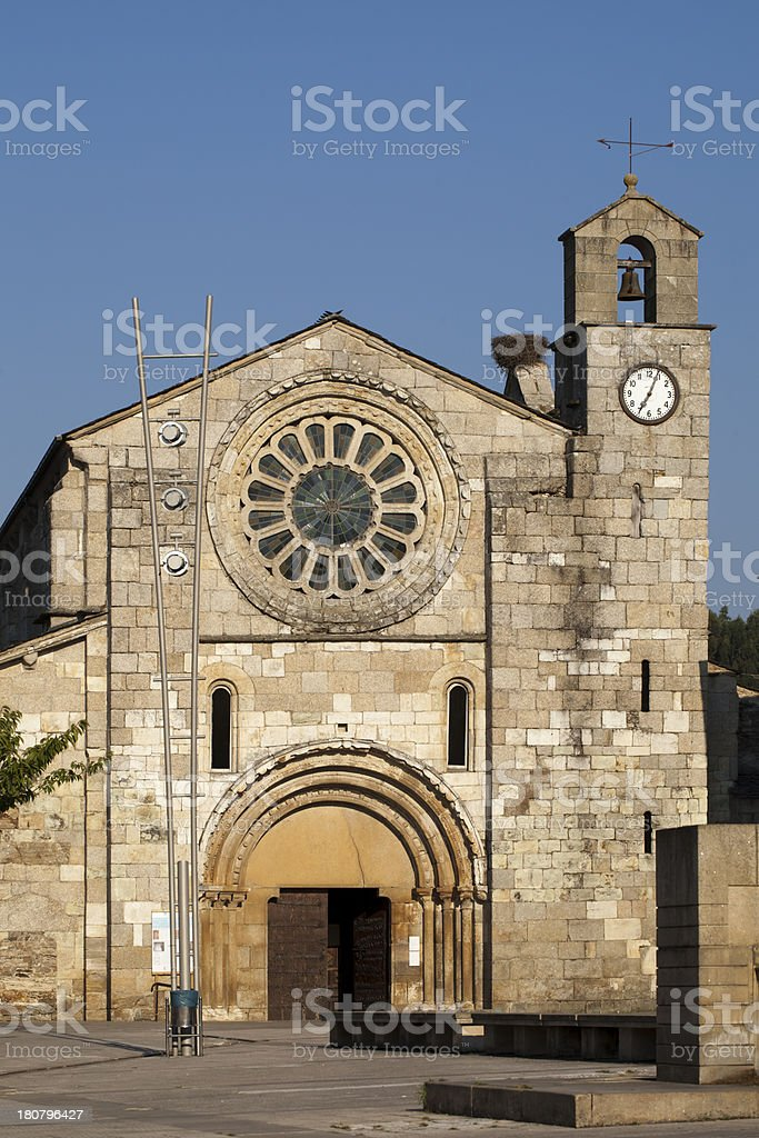 Romanesque church royalty-free stock photo