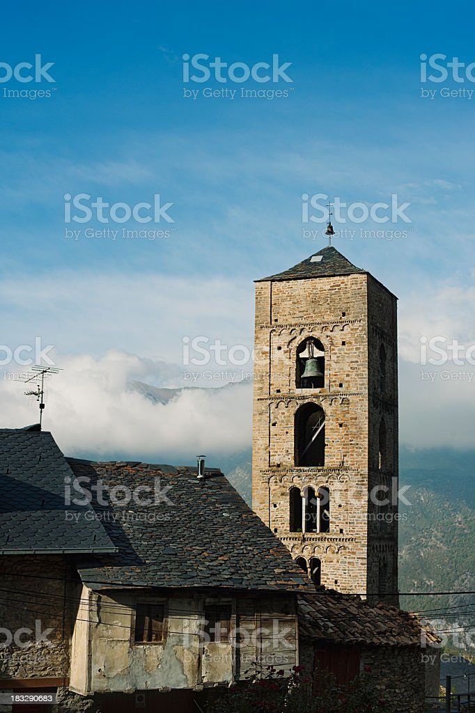 Romanesque church. stock photo