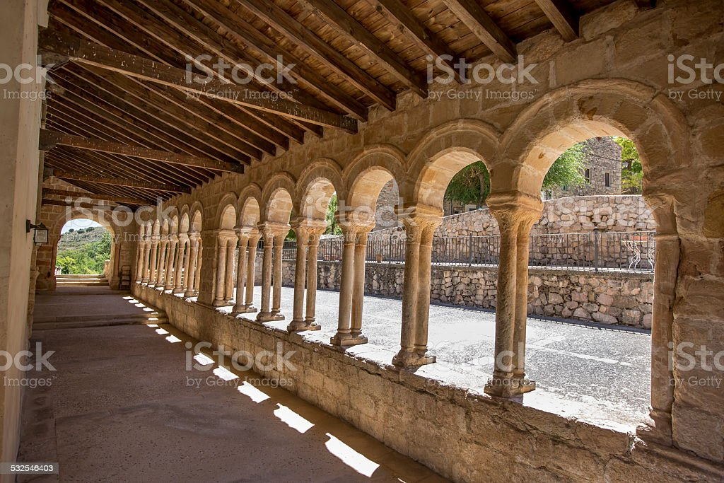 Romanesque Columns and Arches stock photo