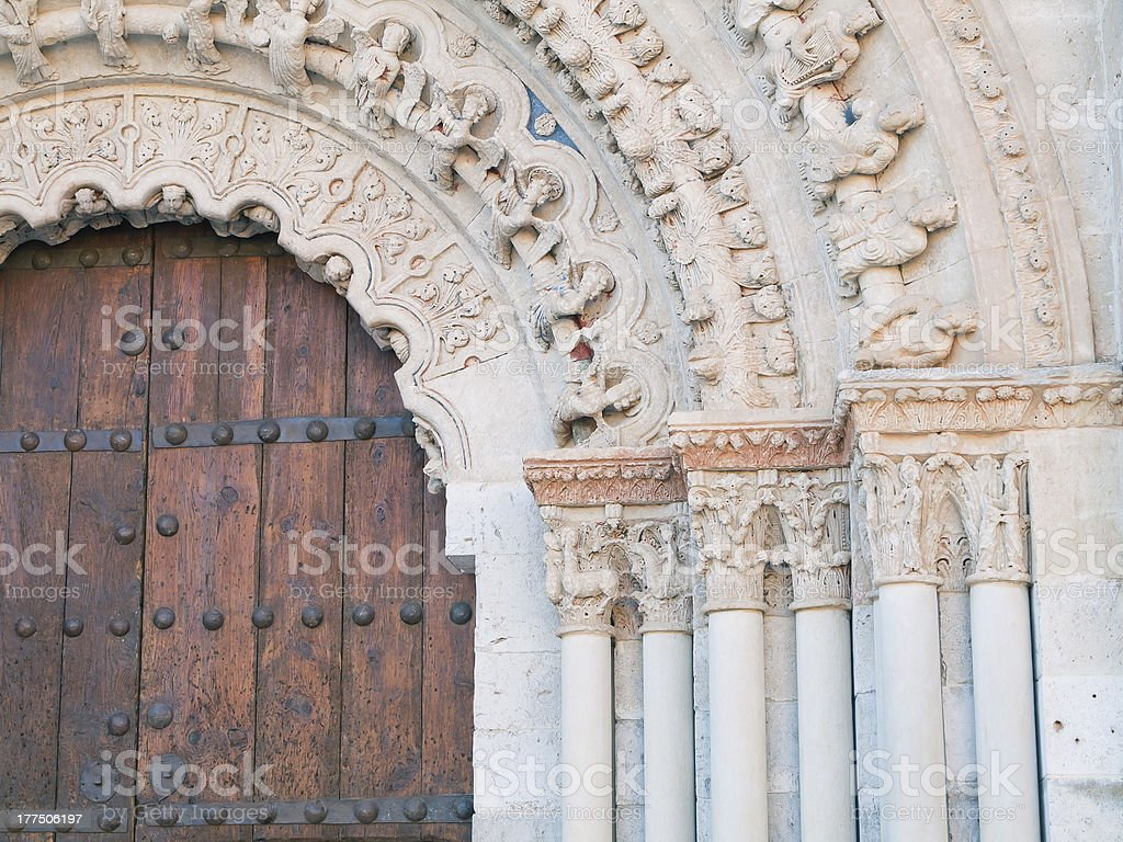 Romanesque detail stock photo