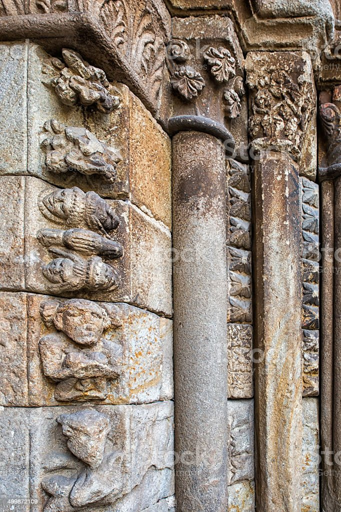 Romanesque details royalty-free stock photo