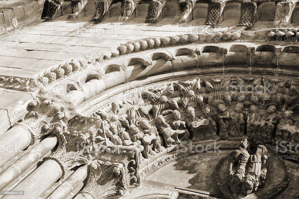 Romanesque portico royalty-free stock photo