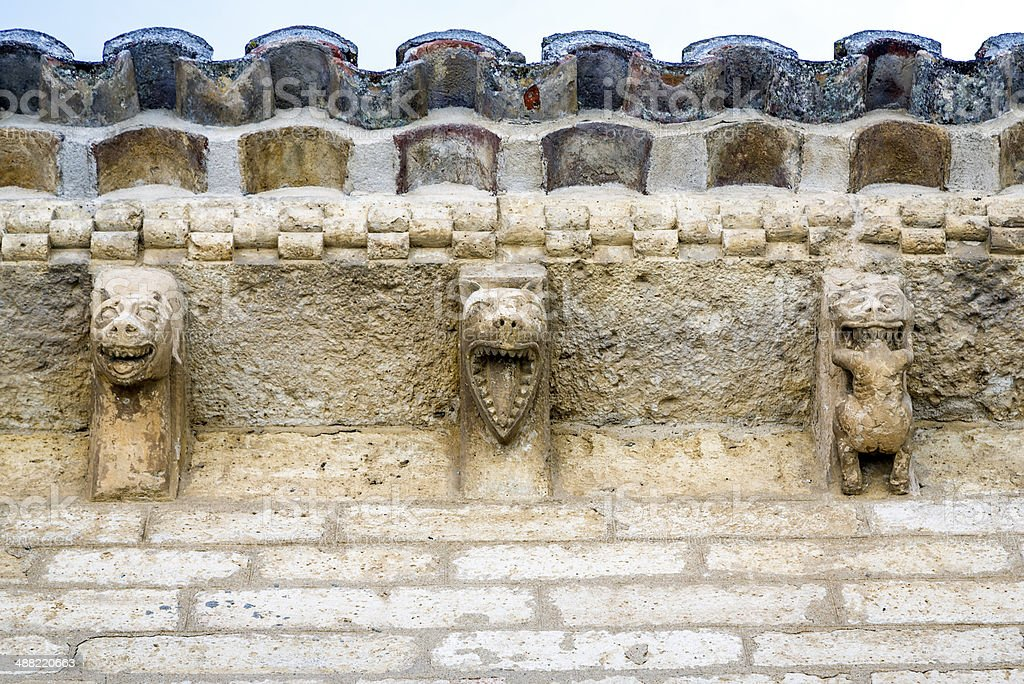 Romanesque style in Fromista, Palencia stock photo