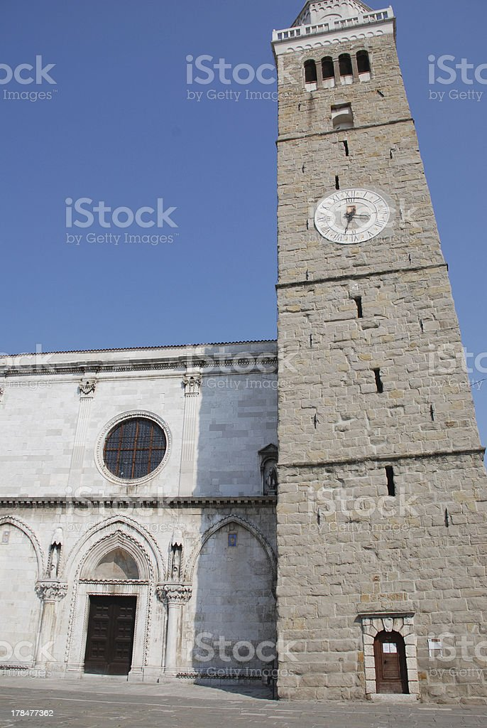 Romanesque Tower, Koper royalty-free stock photo