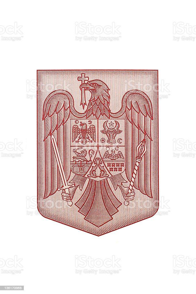 romania emblem stock photo