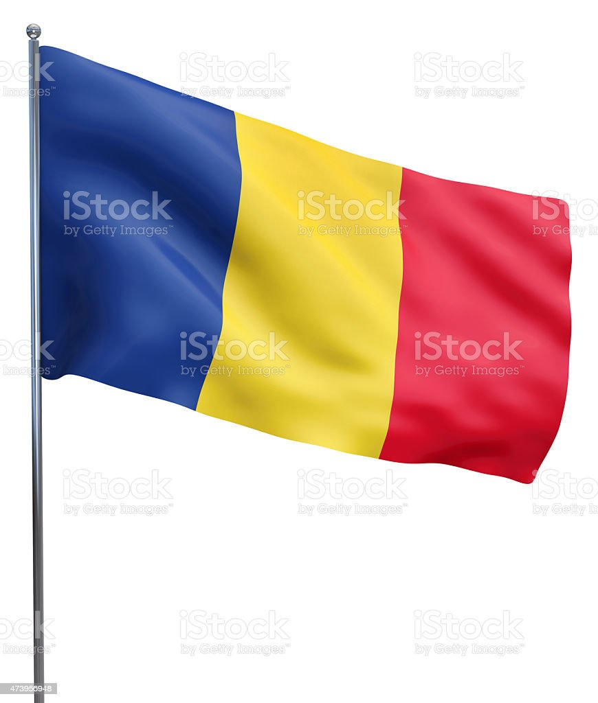 Romania Flag Image stock photo