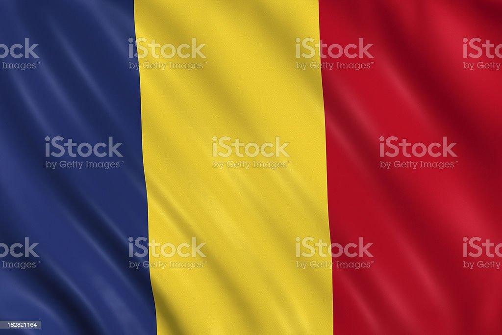 romania flag royalty-free stock photo