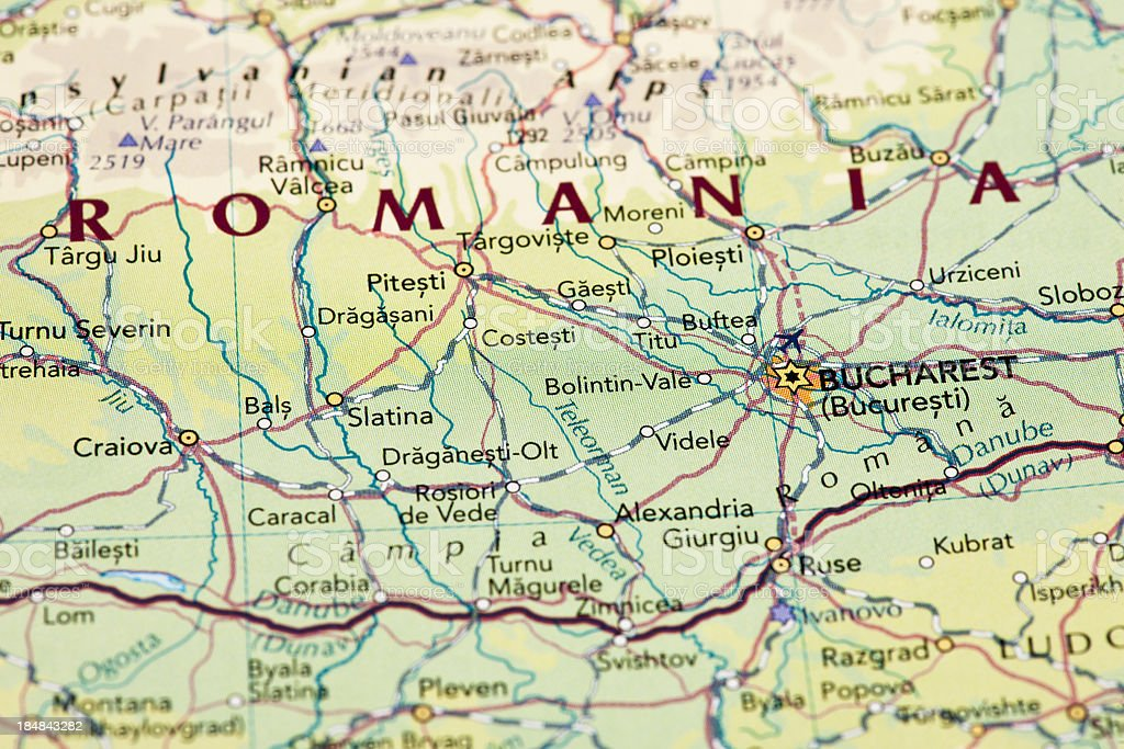 Romania map stock photo