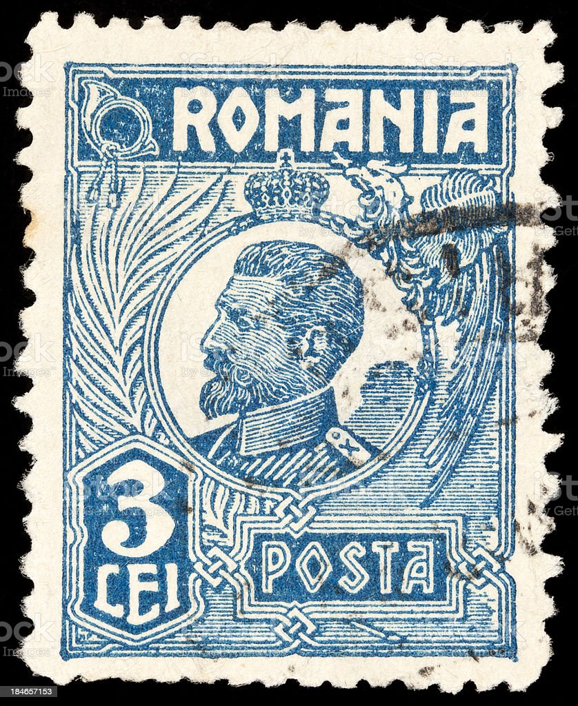 Romania Postage Stamps stock photo