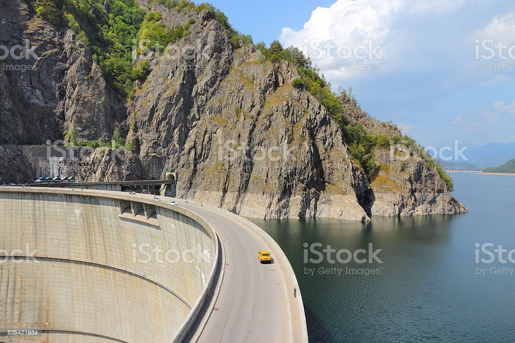 Romania Vidraru Dam stock photo