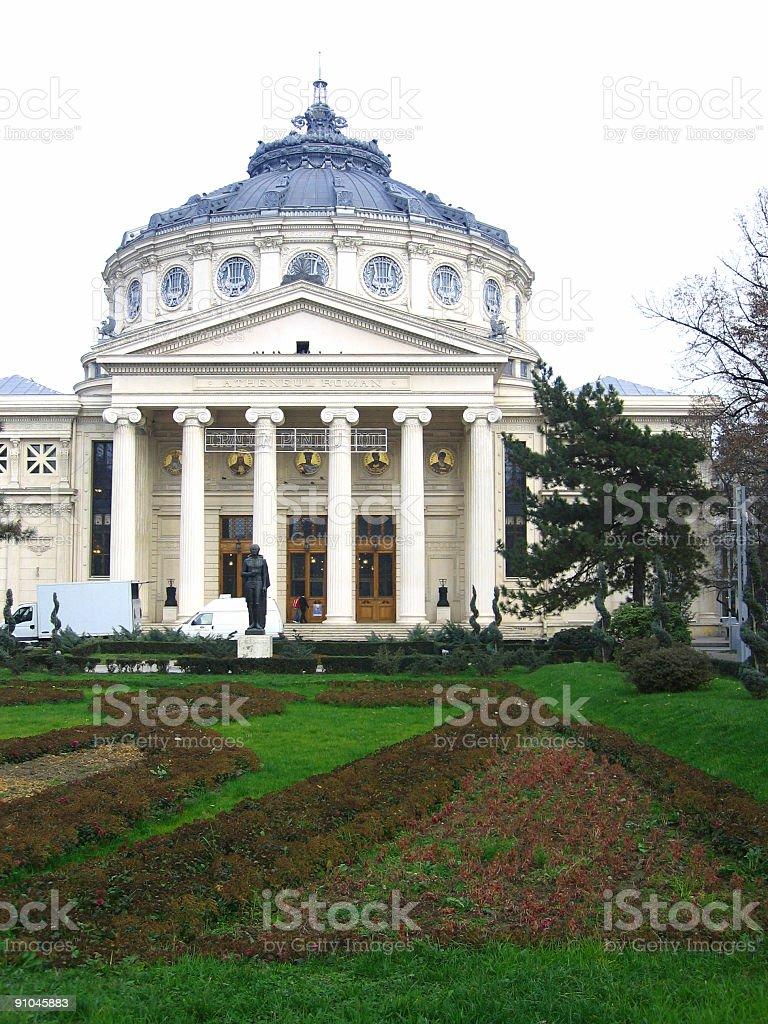 Romanian Athenaeum, Bucharest, Romania stock photo