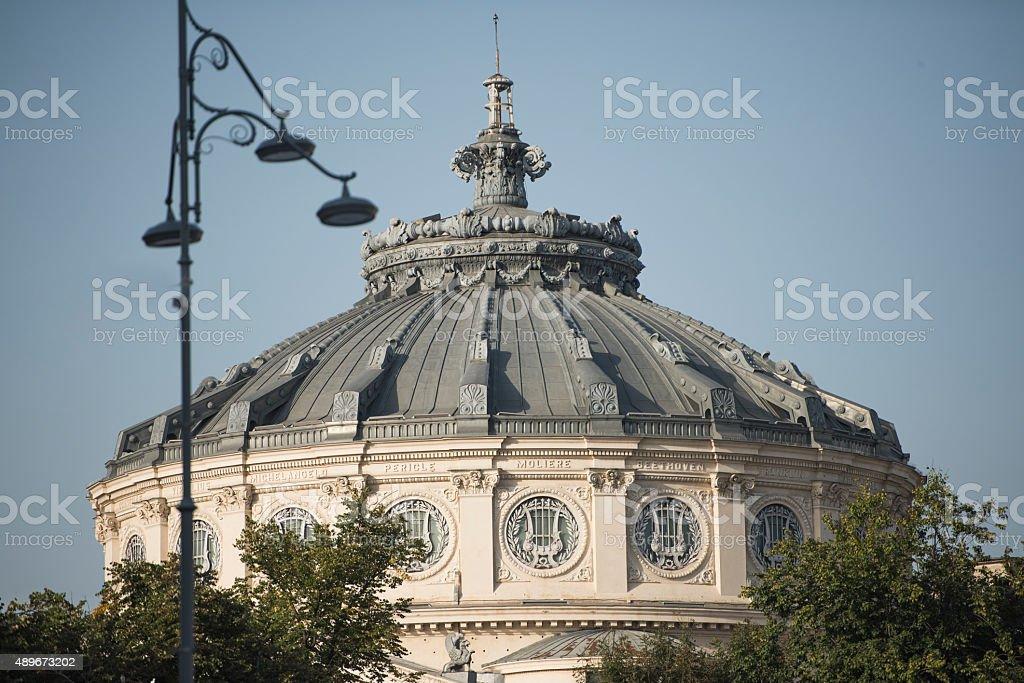 Romanian Athenaeum - detail stock photo