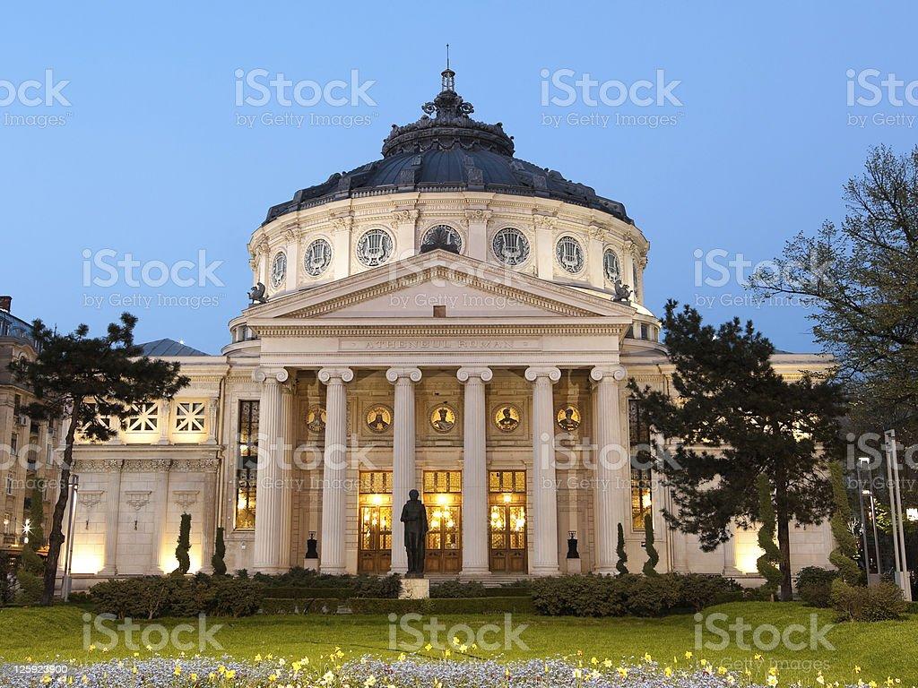 Romanian Athenaeum Of Bucarest, Romania royalty-free stock photo
