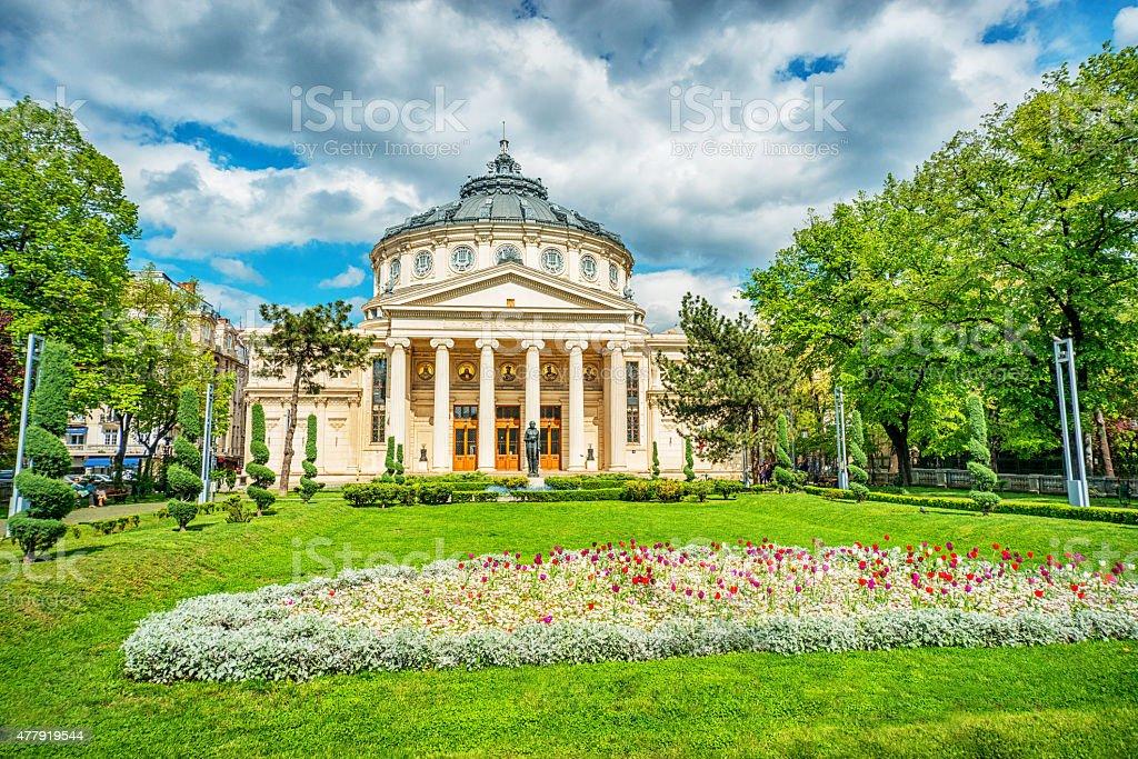 Romanian Athenaeum Of Bucarest, Romania stock photo