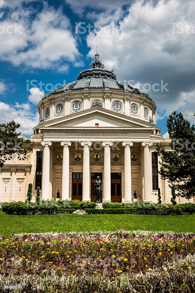 Romanian Athenaeum Of Bucharest, Romania stock photo