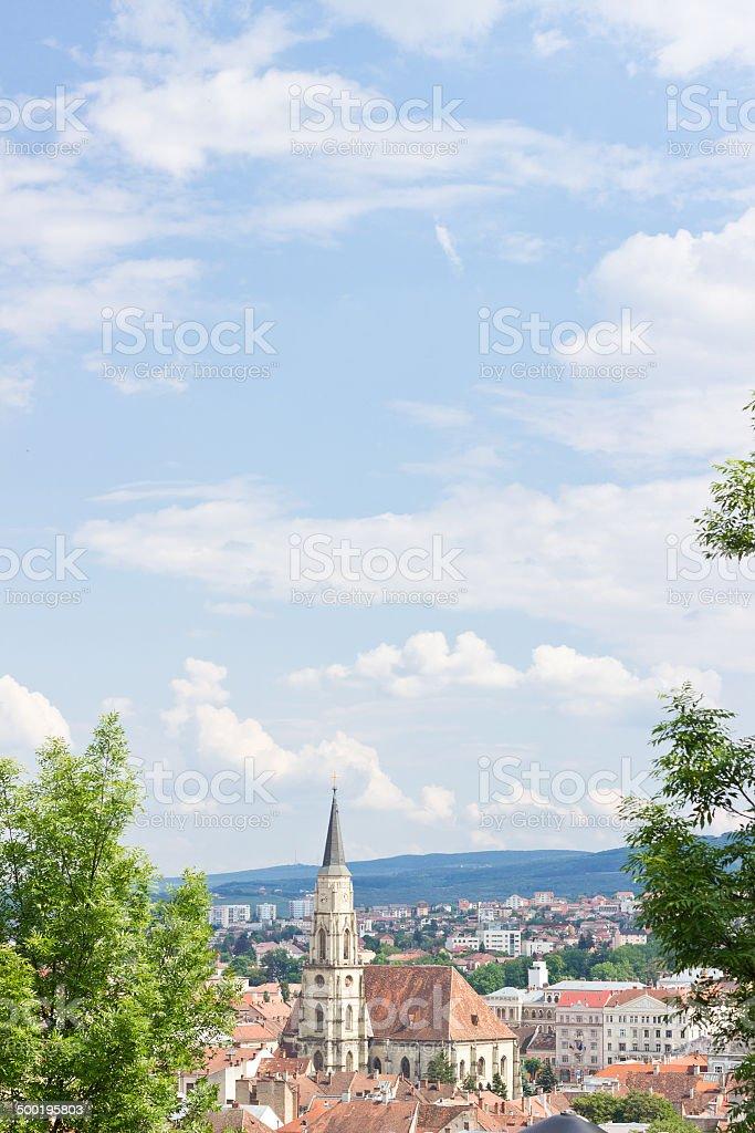 Romanian city Cluj-Napoca in Transylvania stock photo