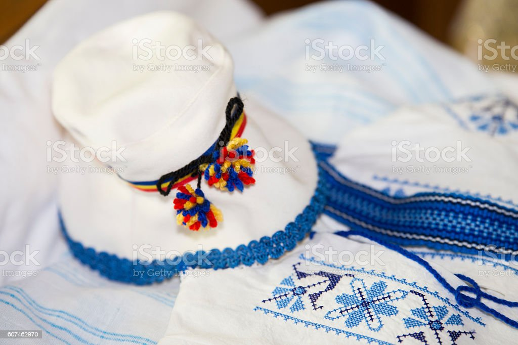 Romanian clothing for baby stock photo