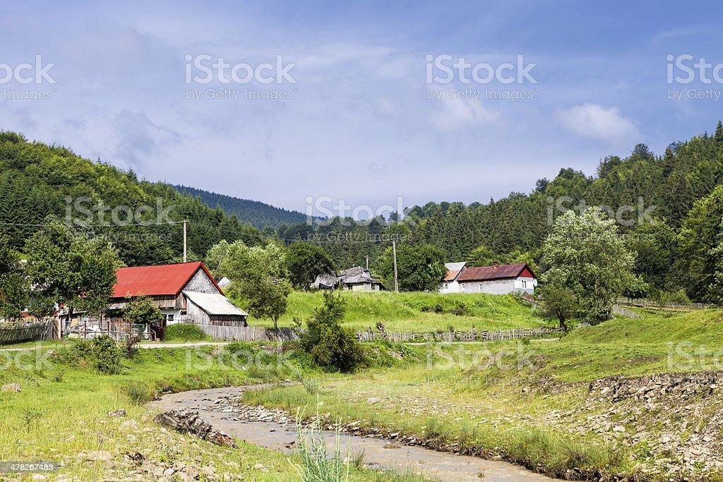 Romanian countryside landscape royalty-free stock photo