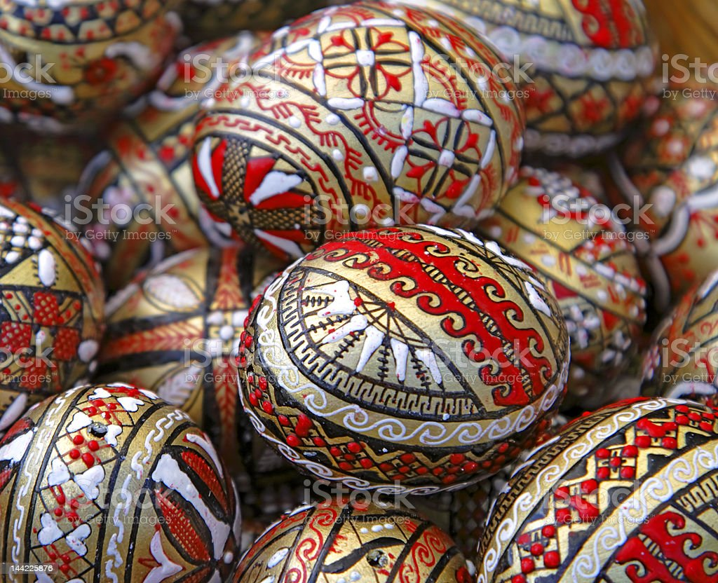 Romanian Easter eggs royalty-free stock photo