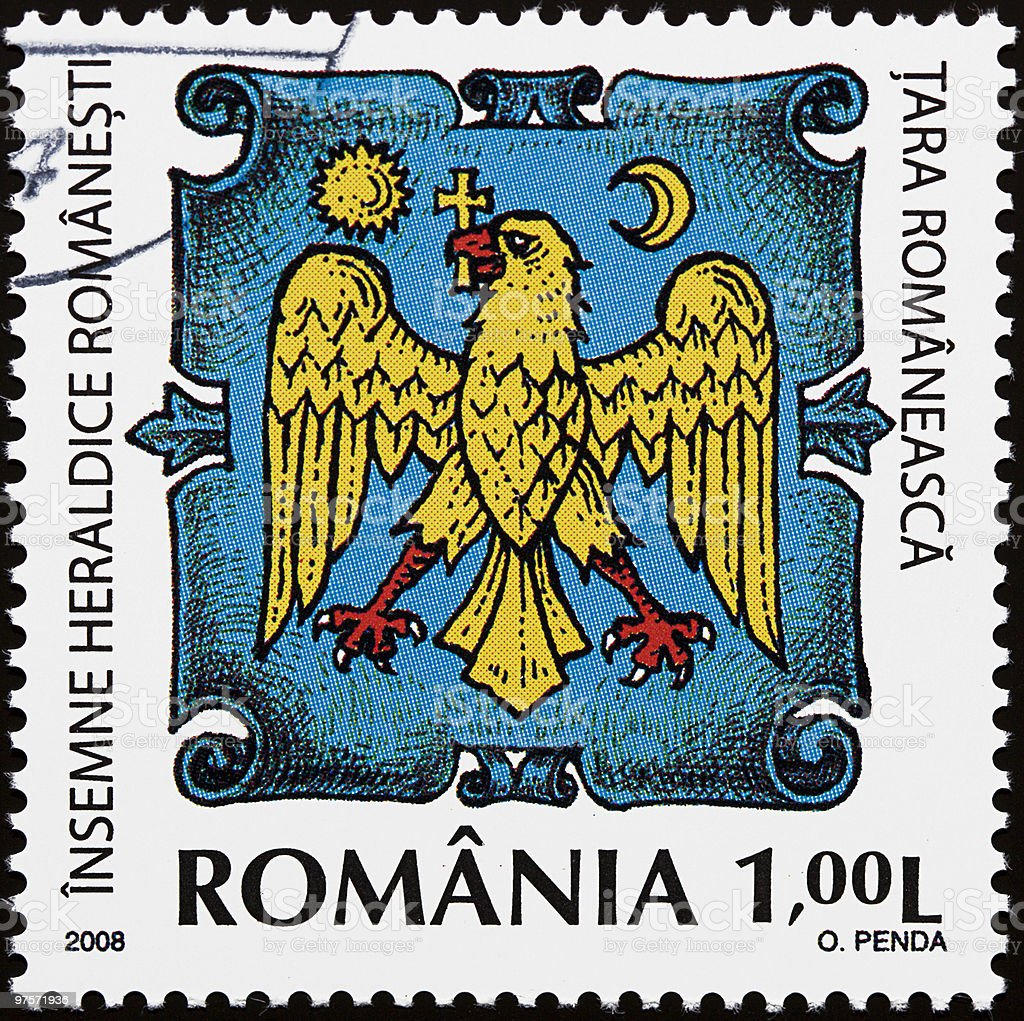 Romanian heraldic sign royalty-free stock photo