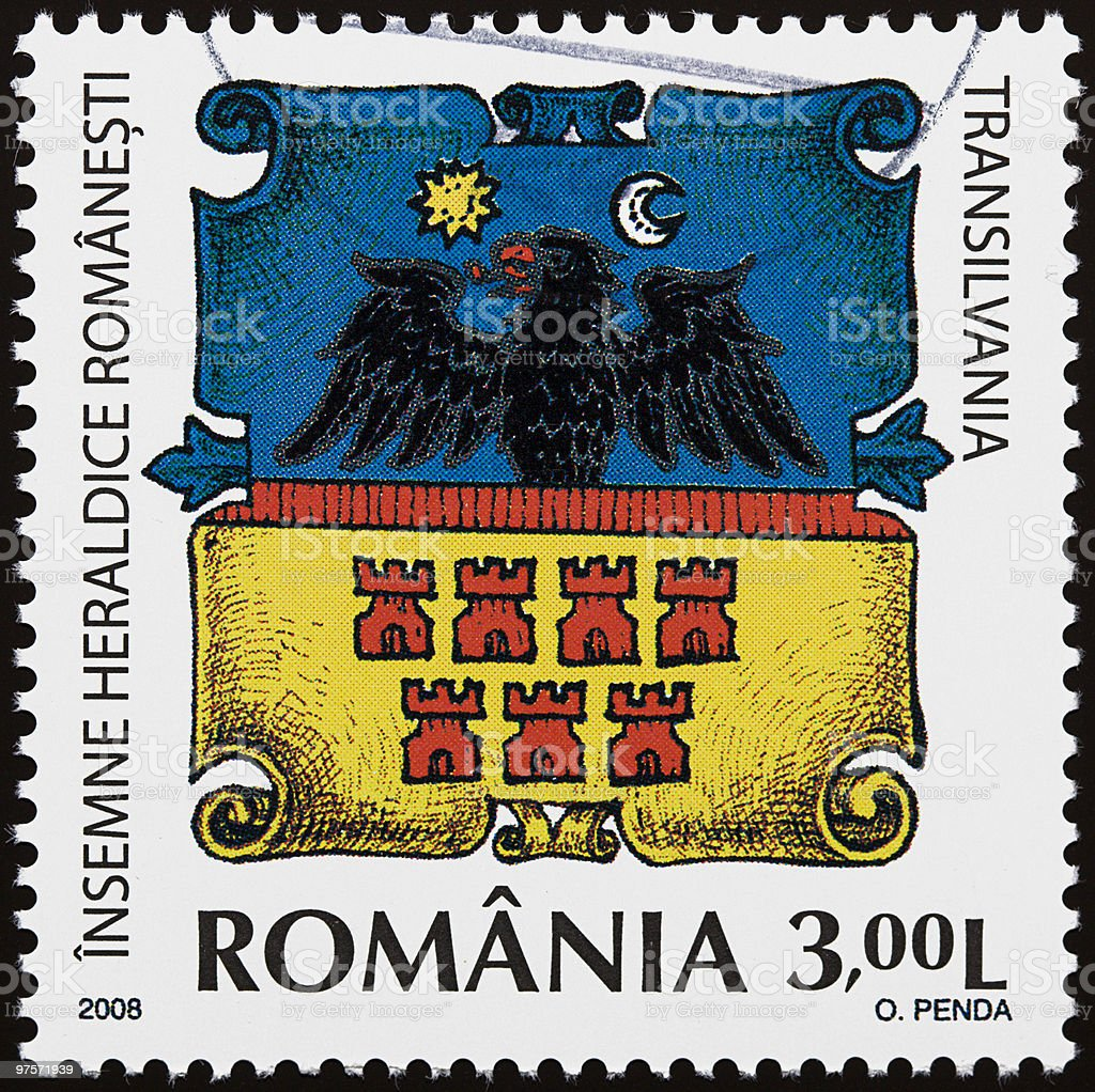 Romanian heraldic sign stock photo
