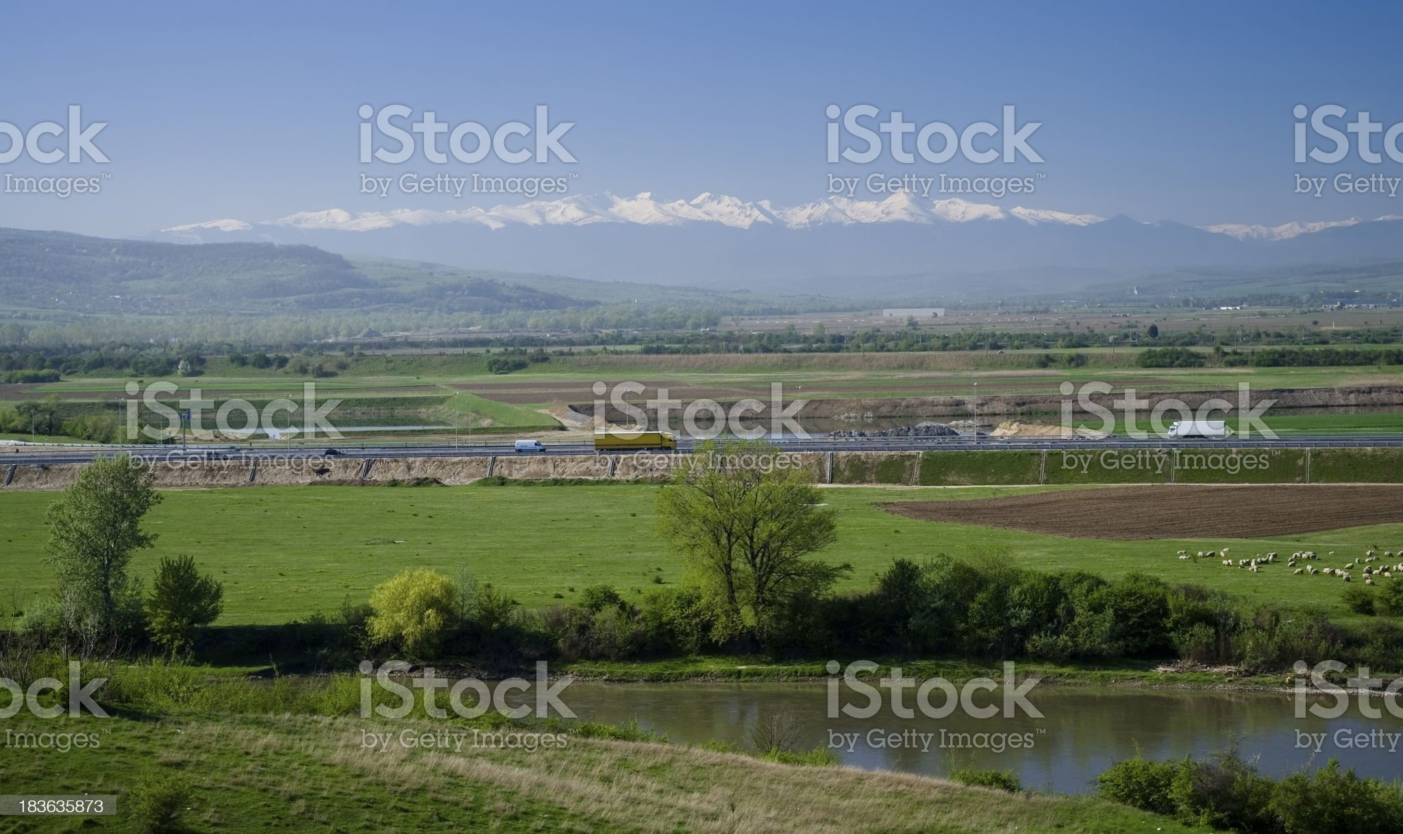 Romanian landscape royalty-free stock photo