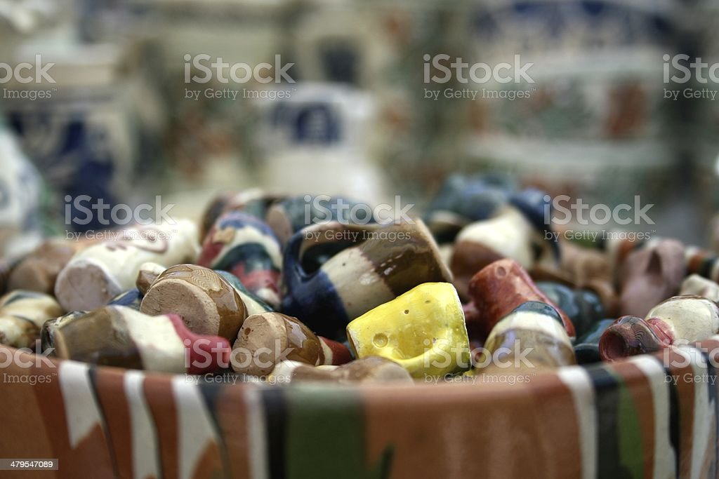 Romanian Minuature Pottery stock photo