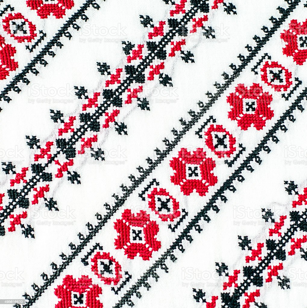 Romanian ornament diagonal stock photo