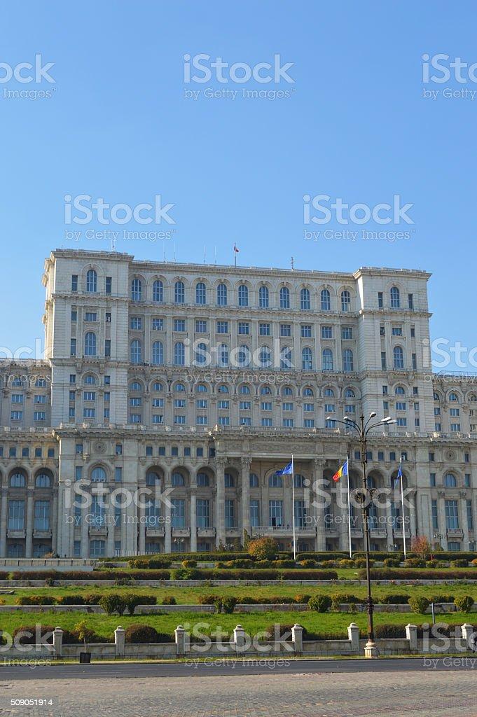 Parlamento rumano de Bucarest foto de stock libre de derechos